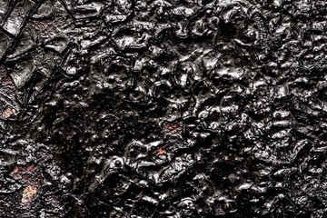 surface of black oil pollution
