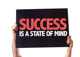 Success Is a State of Mind card isolated on white