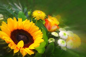 Sunflower bouquet.