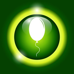 Balloon sign icon.