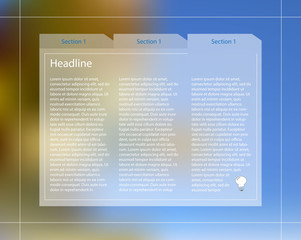 Infographic template with text columns