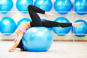 stretching exercises with fitness ball