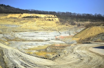 Big mine with yellowish soil