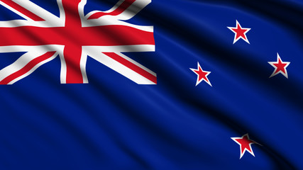 New Zealand flag with fabric structure