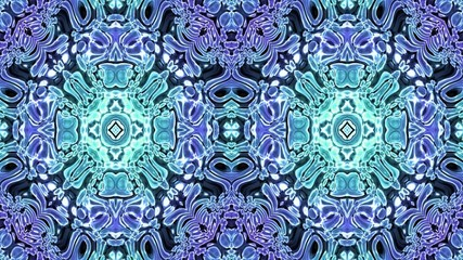 Kaleidoscopic generated seamless loop video