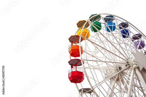 Ferris wheel on white - 80417790