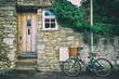 English front cottage with bicycle - 80417900