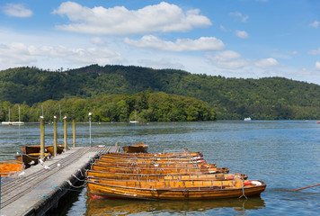 Pleasure boats Bowness in Windermere uk tourist attractions