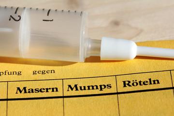 Schutzimpfung gegen Masern / Mumps / Röteln