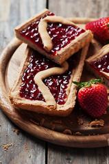 Cake wit strawberry
