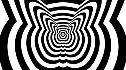 Concentric oncoming abstract symbol, fatty cat-optical illusion
