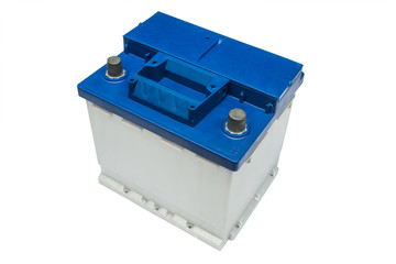 Electric car battery on a white background