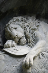 The Lion monument, or Lion of Lucerne in Lucerne Switzerland