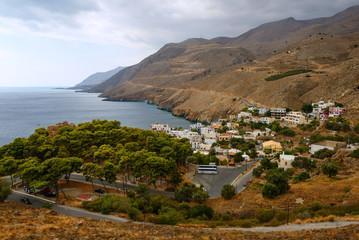 Village on the southern coast of Crete