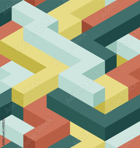Tapeta Color shape's seamless pattern
