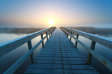 bridge to sunrise sun - 80422115