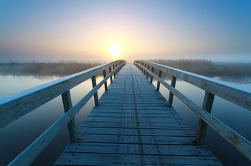 bridge to sunrise sun