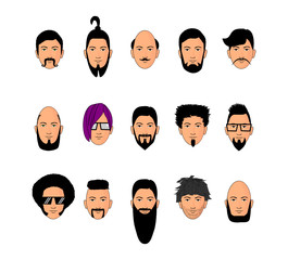 visages masculins