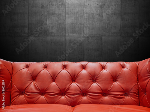 Segment Leather Sofa Upholstery With Copyspace - 80422199