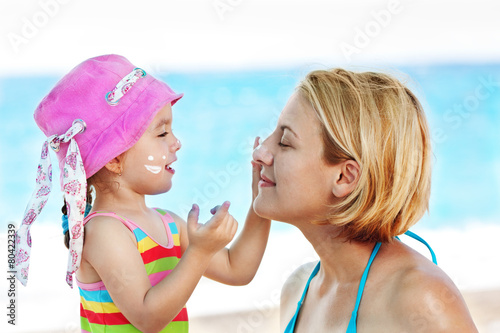 canvas print picture Protecting Mom