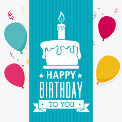 Happy birthday card design.