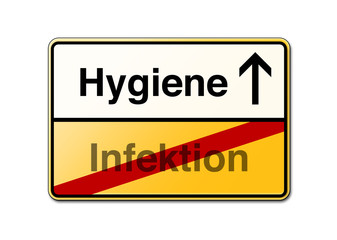 Hygiene Infektion Schild