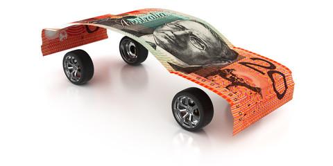 20 Australian Dollars on Wheels