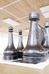Сloseup of chess pieces