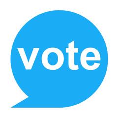 Icono texto vote