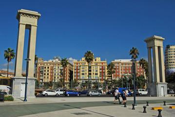Málaga, paisaje urbano, Andalucía