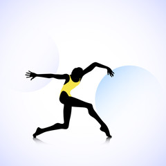 Woman logo dancer
