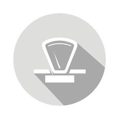 Icono balanza 70s gris botón sombra