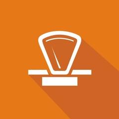 Icono balanza 70s naranja sombra
