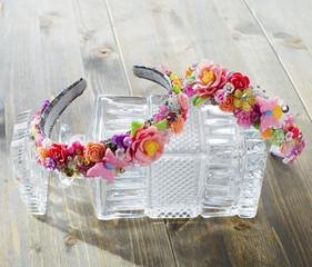 Spring wreath for hair