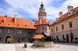 Courtyard of the castle at Cesky Krumlov, Czech Republic