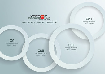 Paper Circles Infographics Design