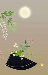 花 和風イラスト