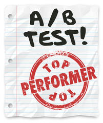 A B Test Top Performer Grade Paper Random Comparing Results