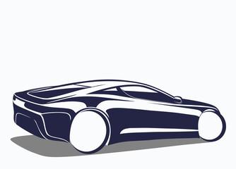 Estetik spor otomobil