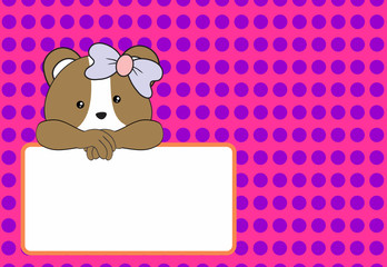cute baby hamster girl background