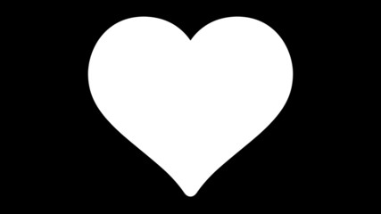4K UltraHD loopable beating heart symbol with waving American