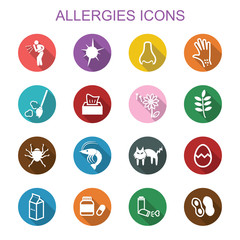 allergies long shadow icons