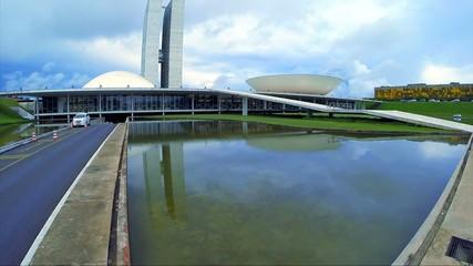 The National Congress of Brazil in Brasilia city capital