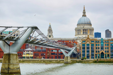 London skyline with St. Paul's cathedral