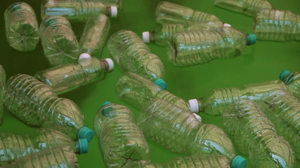 Bottles Floating On Polluted Water