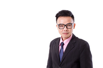 businessman with eyeglasses looking at you