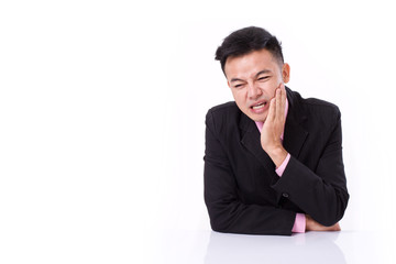 businessman suffering from toothache