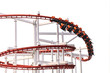 canvas print picture - Roller Coasters loops