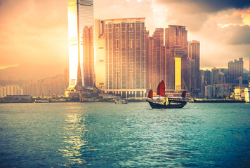Travelling Hong Kong by junk boat