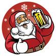 santa claus enjoy a glass of beer - 80432978